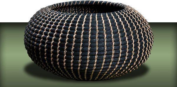 Basket made of paperyarn - coiling. Anne Birgitte Beyer
