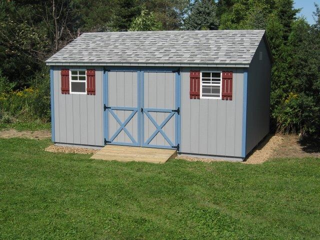 32 best images about storage buildings on pinterest for Pre built storage sheds