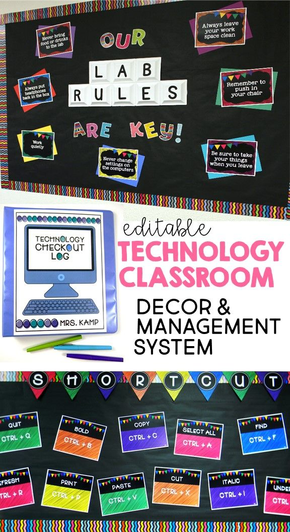 This computer lab décor/management system includes everything you need to set up and manage an organized and cohesive technology classroom or computer lab. With bulletin board displays for computer shortcuts in PC and Mac, editable lab rules posters, banners, technology checkout logs, student login cards, device number labels, and grading and checkout binder covers for the teacher. Even includes a fun and unique behavior management system for students to collect behavior bitcoin!