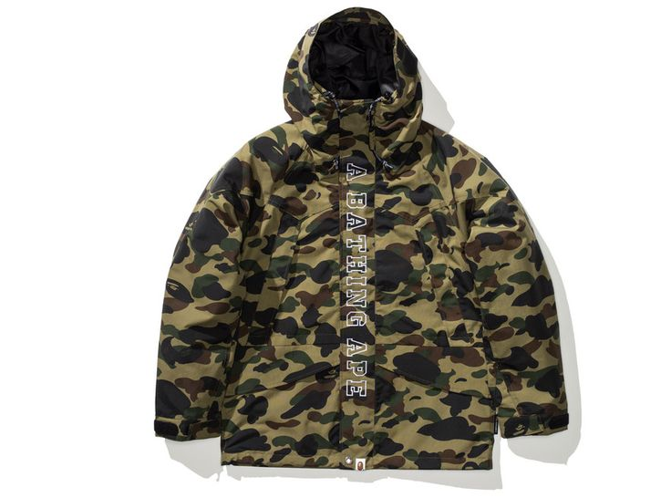 BAPE 1ST CAMO SNOWBOARD JACKET - GREEN | Undefeated