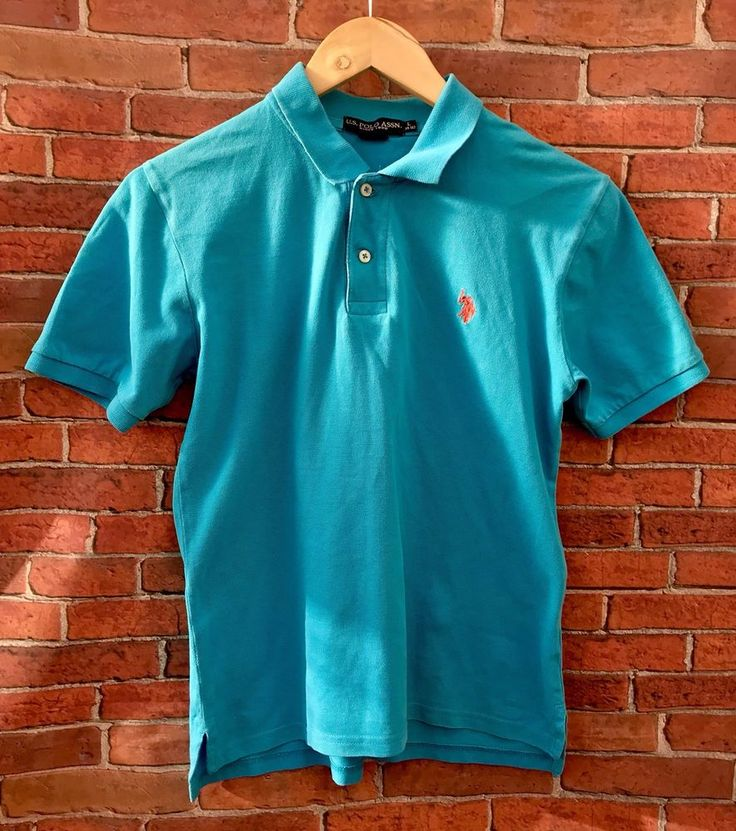 Woman's Polo Shirts Light Blue👕 Size 14-16 Is Polo Assn 100% Cotton