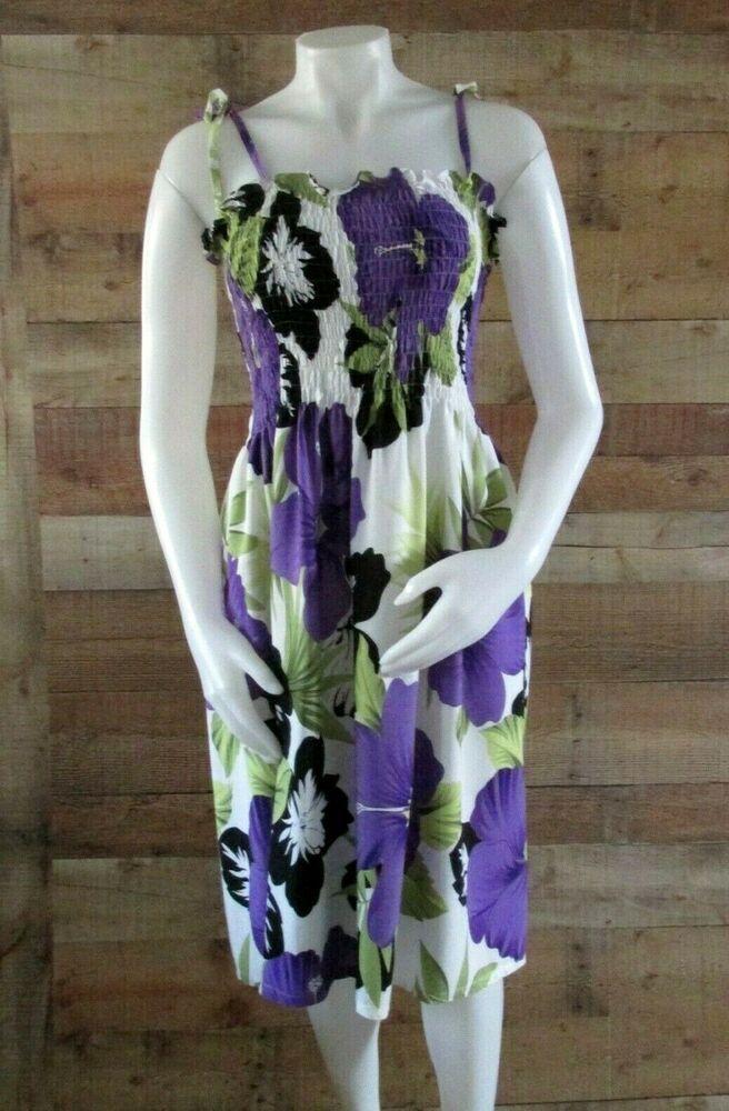 80\u2019s ruffle trim tropical hawaiian dress with pockets summer muumuu puff princess sleeves pink hibiscus floral trim M hilo hattie
