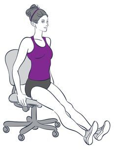 25 best ideas about chair exercises on pinterest ab