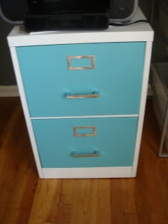 Modern DIY: How to Paint a Metal Filing Cabinet for under $40