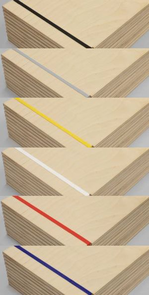 Wooden menu holders with rubber bands in six different colour!  Only 10,90€ each!