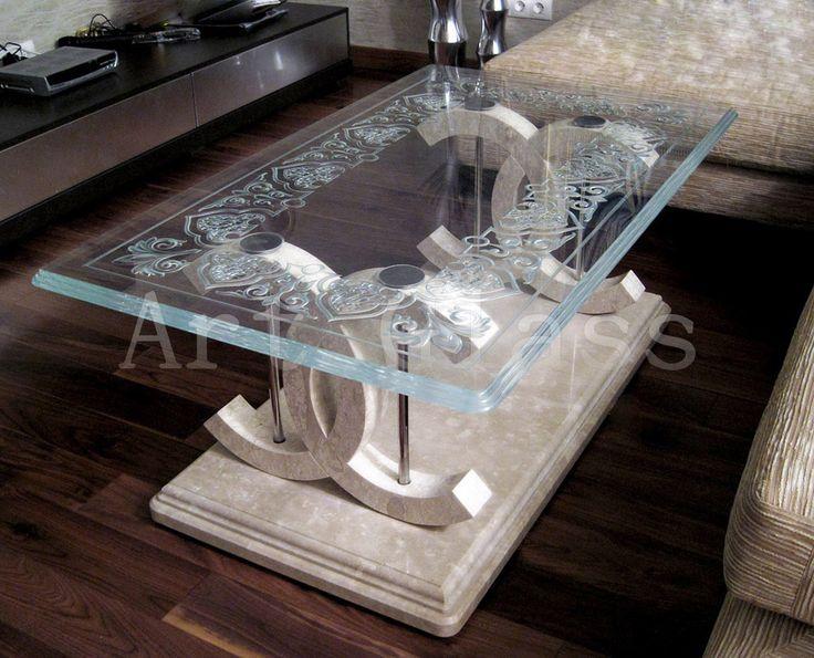 Столы журнальные из стекла, столики журнальные стеклянные - шикарные изделия из стекла эксклюзивного исполнения - Арт-Гласс, ЧП (Art-glass) Киев (Украина) - купить, цена, фото