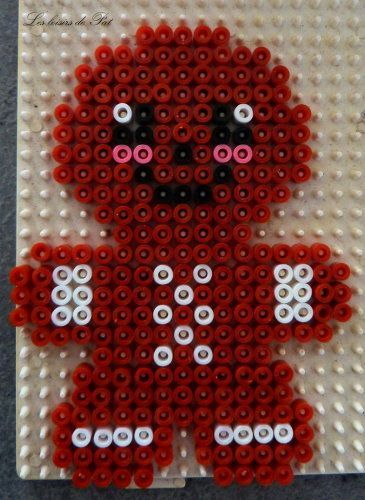 Image result for perler bead patterns christmas gingerbread