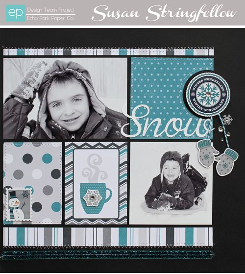 snow days...nice layout and color combo...would replace the cup with another photo