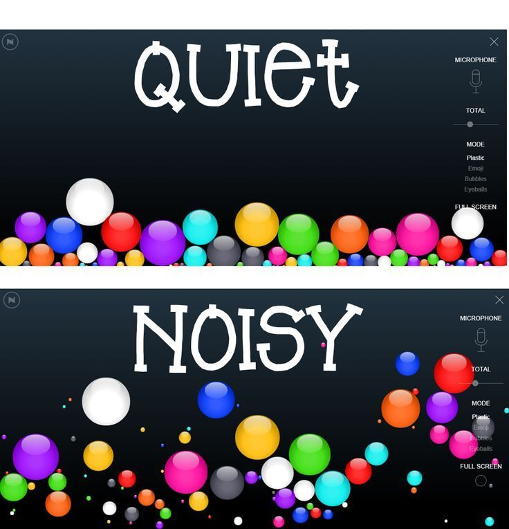 Monitor Classroom Noise Level with Virtual Bouncy Things