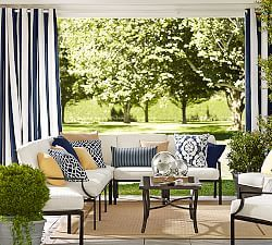 I want to do these curtains in my living room Outdoor Sale | Pottery Barn