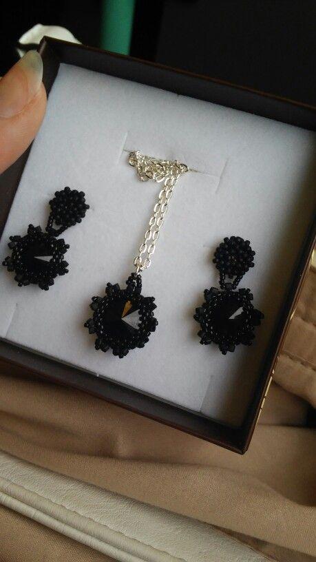 Black swarovski jewellers