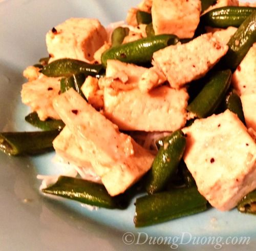 A delicious Sprouted Tofu & Green Bean Recipe using Massel All Purpose Bouillon & Seasoning  from Duong's blog about healthy eating. This recipe is Gluten-Free, Vegan and NON-GMO.