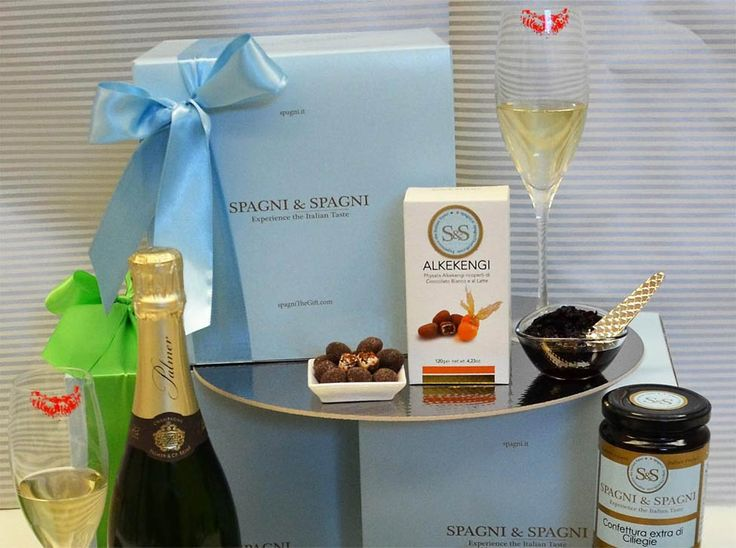 Exceptional Flavors #GiftBasket... Celebrate special moments with delicious Spagni & Spagni product #ItalianFood #chocolate #champagne https://goo.gl/3dk42U