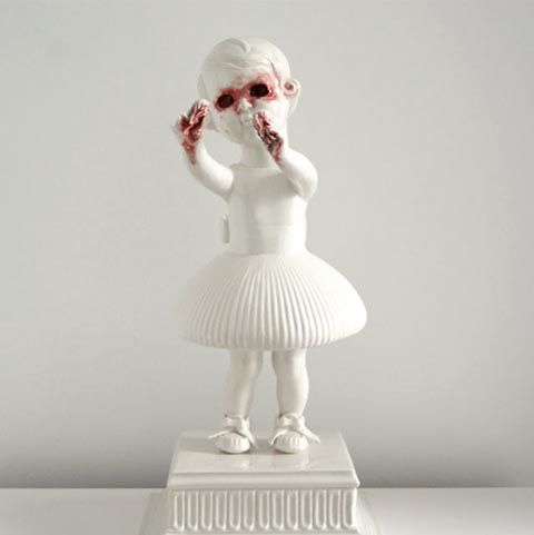 Best Horror Ceramics Images On Pinterest Sculpture Bizarre - Amazingly disturbing porcelain figurines by maria rubinke