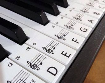20% OFF Keyboard / Piano Stickers up to 61 KEYS the by Hannott
