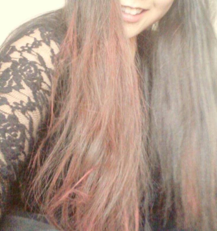black+red hair