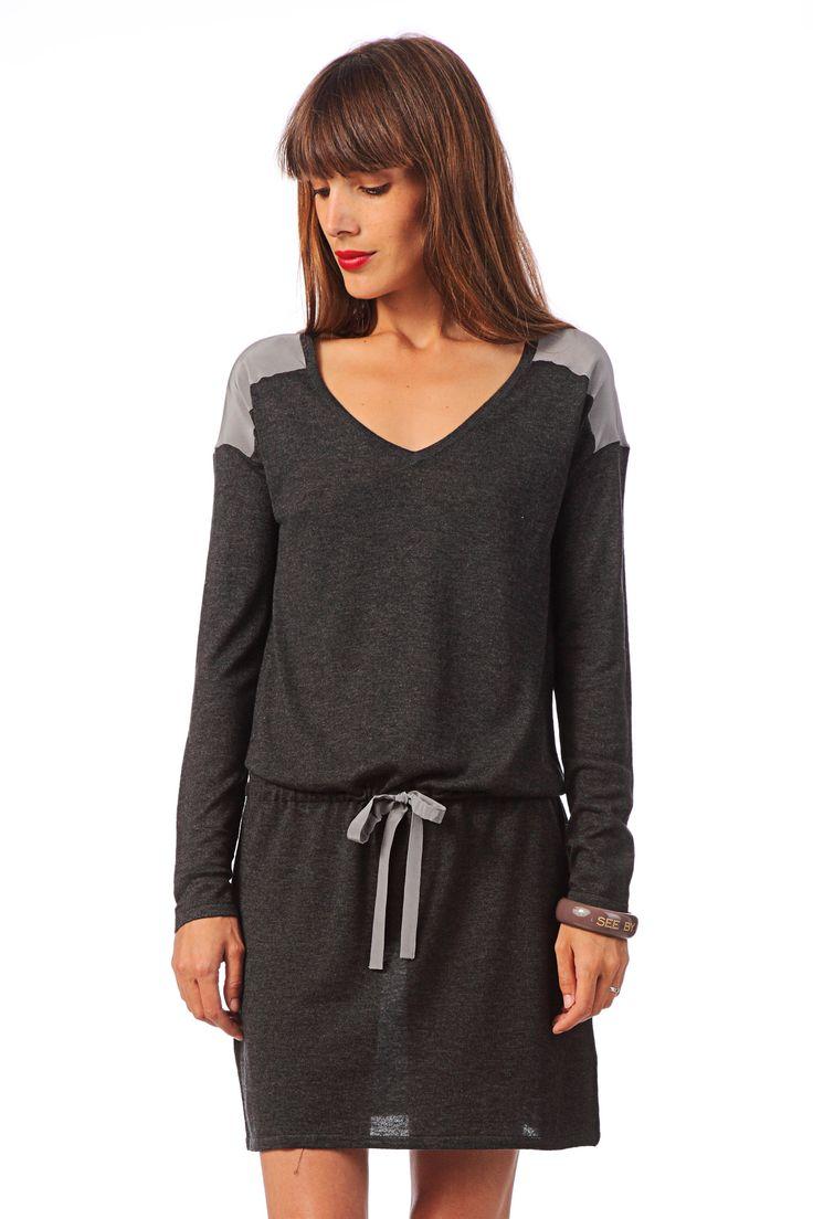 Couture - Empiècements // patron robe vert clair à faire en laine douce