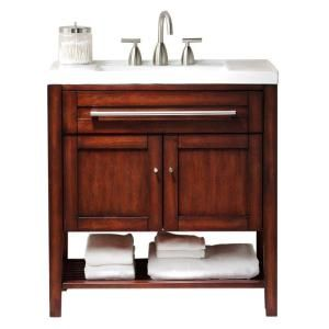 The Awesome Web Home Decorators Collection Hazelton in W x in D Vanity in Rubbed