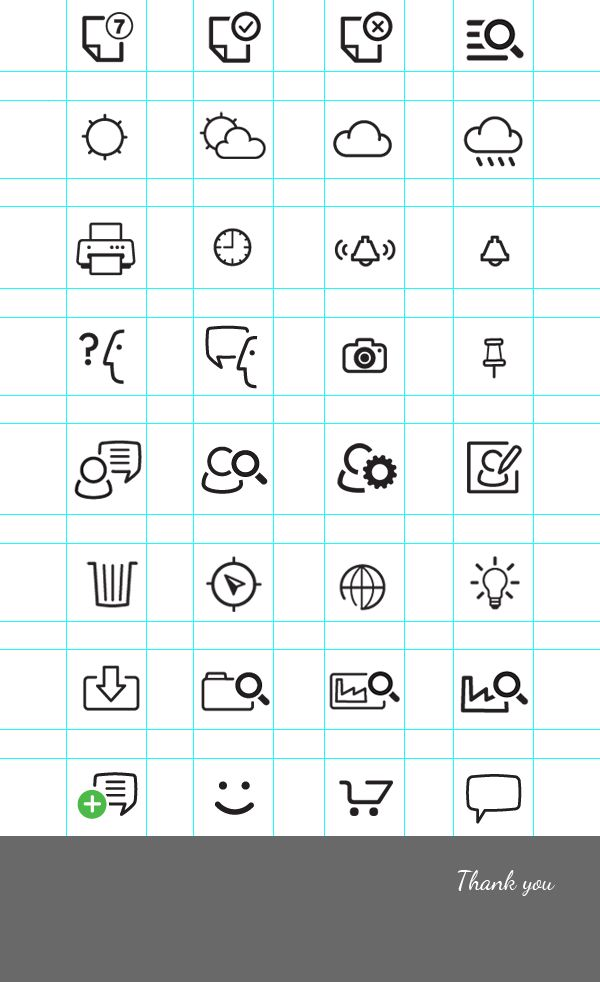 Pictogrammes Vol.1 par Manlio Tenaglia, via Behance
