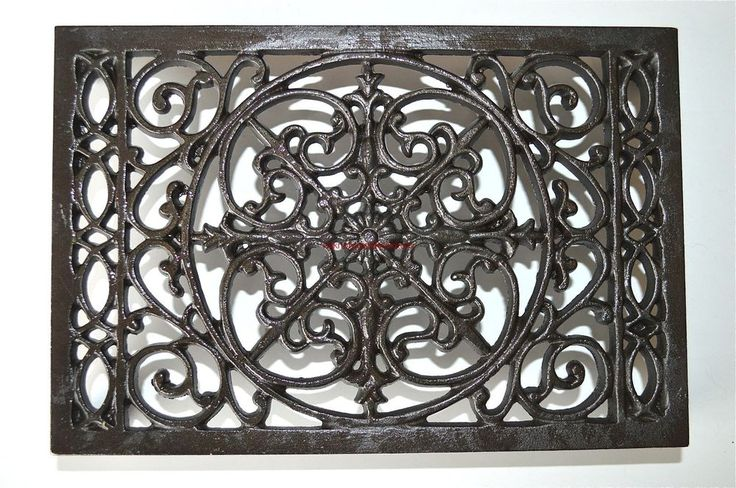 A large classic Victorian style air brick insert.Made from solid cast iron.It measures 24cms wide,16.4cms tall and 4.2cms deep.   eBay!