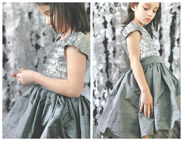 Gorgeous little dress for girls - free pattern.