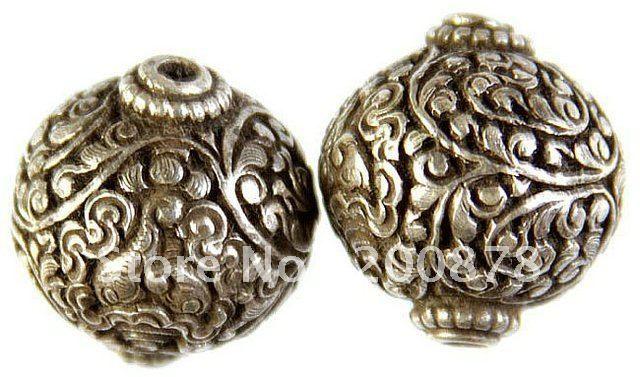 Cheap nbb420 tibetano mantra argento sciolto perline , nepal rame perle di seta vintage flower fascino , moq basso, Compro Qualità Branelli direttamente da fornitori della Cina: tibetani fatti a mano branelli allentati del metallo , dal nepal . * made di argento tibetano * mano artigianale *