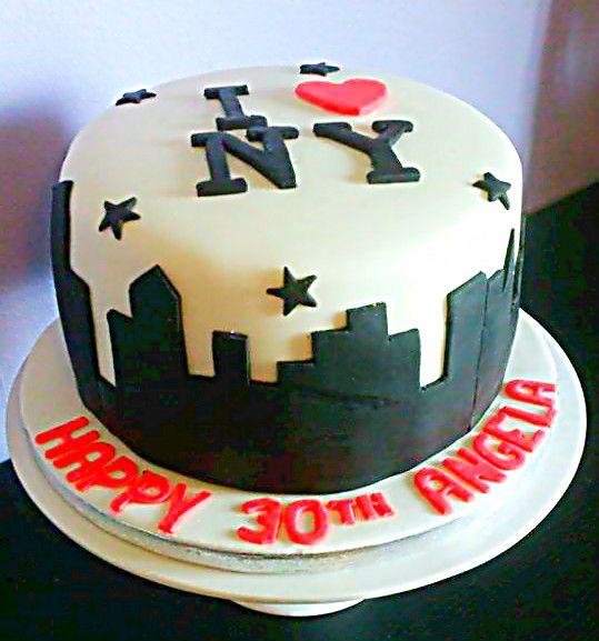 New York Birthday Cake NY Pinterest