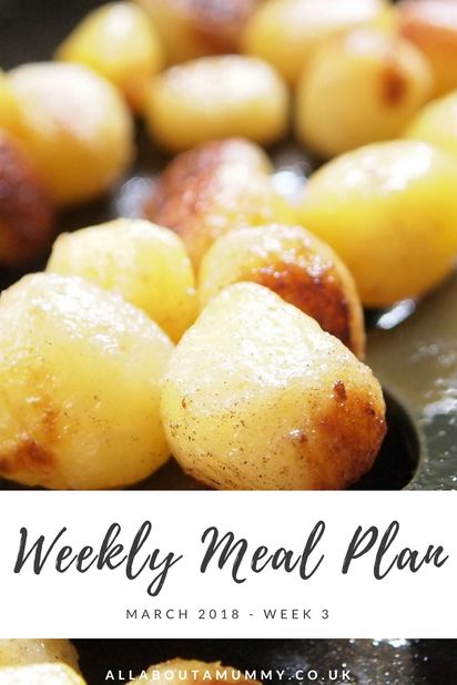 Slimming World friendly weekly meal plan