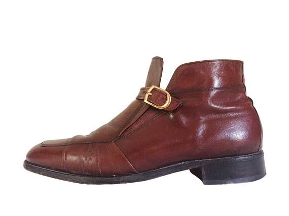 Vintage Oxblood Boot Oxblood Leather Men Ankle Boot Florsheim Imperial 60s #thevillevintage