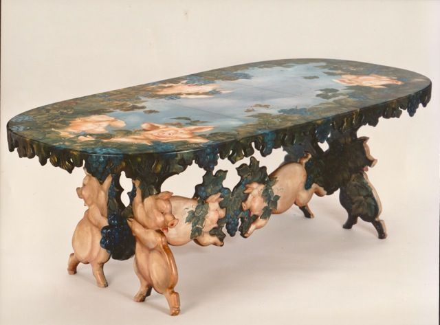 Pig Table © Pamela Silin-Palmer 1992 - stunning!!