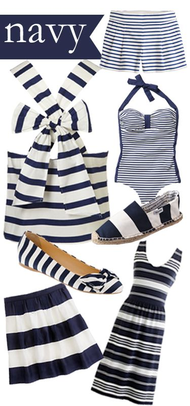 when in doubt wear navy stripes... who's with me?