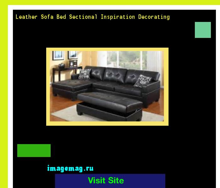Leather Sofa Bed Sectional Inspiration Decorating 113809 - The Best Image Search