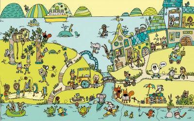 Colección de Láminas en color XL  para trabajar atención, percepción vocabulario animales jugando