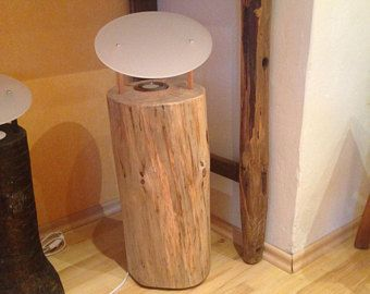 Baumstamm Lampe Baumstamm Holzlampe Holz Lampe Bodenlampe Decor Side Table Furniture