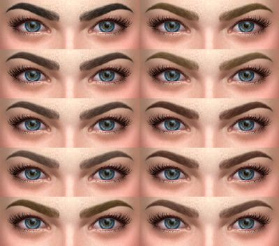 My Sims 4 Blog: Eyebrows by AlfSi