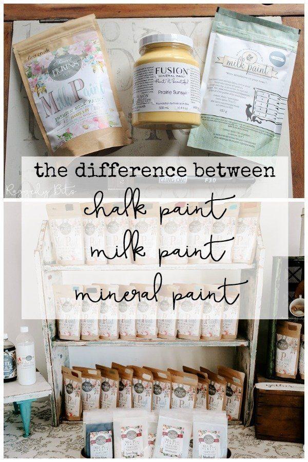 Der Unterschied zwischen Kreidefarbe Milchfarbe Mineralfarbe