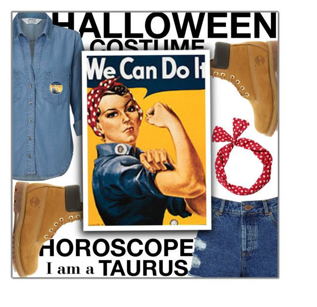 """Halloween Costume Horoscope: Taurus"" by fashionbrownies ❤ liked on Polyvore featuring Miss Selfridge and Timberland"