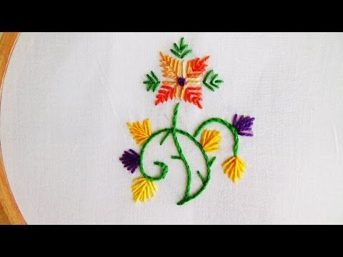 Hand Embroidery: Straight Stitch - YouTube