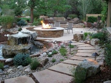 Backyard Waterfalls+fire Design Ideas, Pictures, Remodel, and Decor - page 10