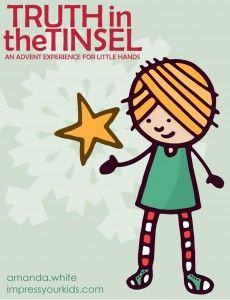 Instructions for a simple homemade advent calendar and Black Friday deal on the Truth in the Tinsel ebook.