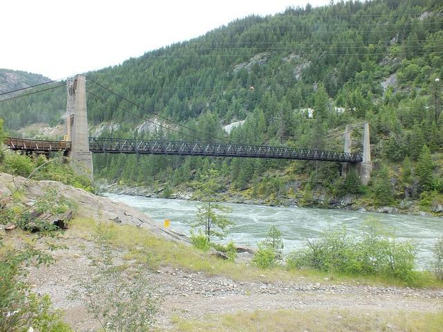 Castlegar BC - Brilliant Suspension Bridge