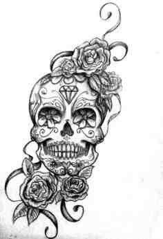 Ink ideas on Pinterest   Sugar Skull Tattoos, Sugar Skull and ...