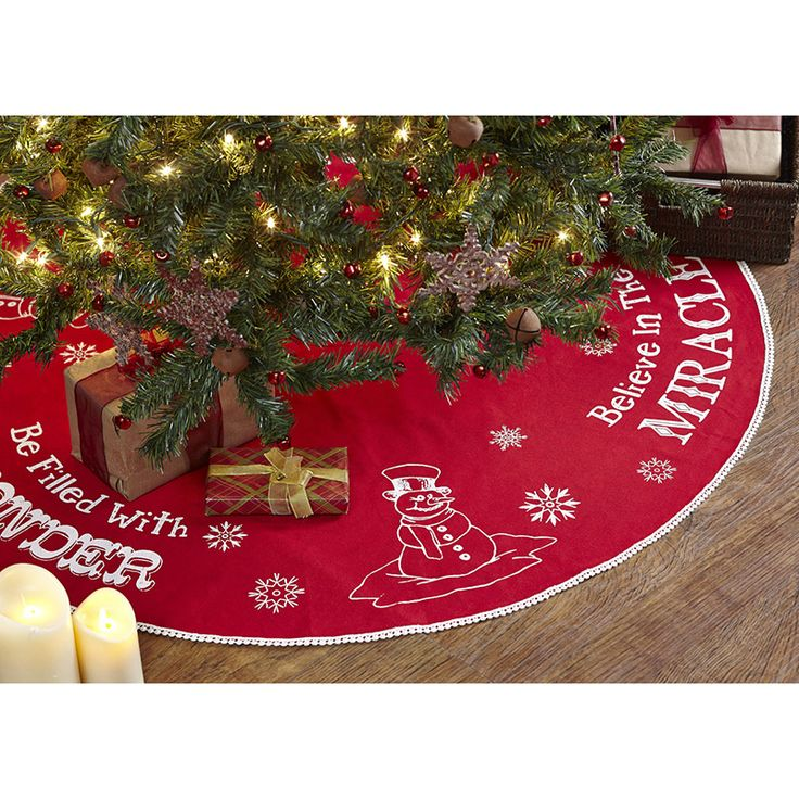 winter wonderment christmas tree skirt 48 - Small Christmas Tree Skirts