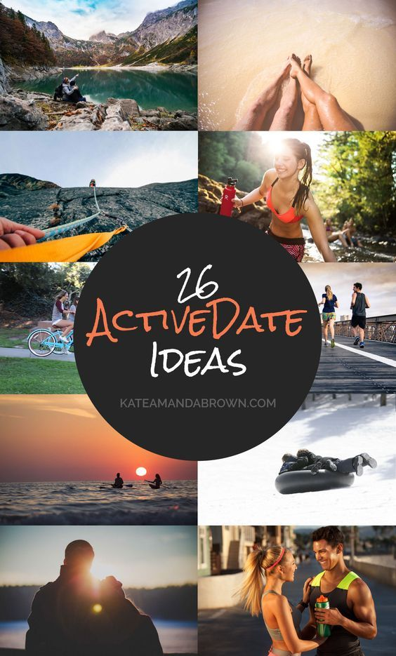 Forget dinner and a movie and surprise him or her with one of these fun active date ideas! There's something for all weather conditions too... | Kate Amanda Brown | outdoor dates, fun date ideas, winter date ideas, summer date ideas, indoor active dates, unique date ideas, date ideas for active couples, adventurous dates
