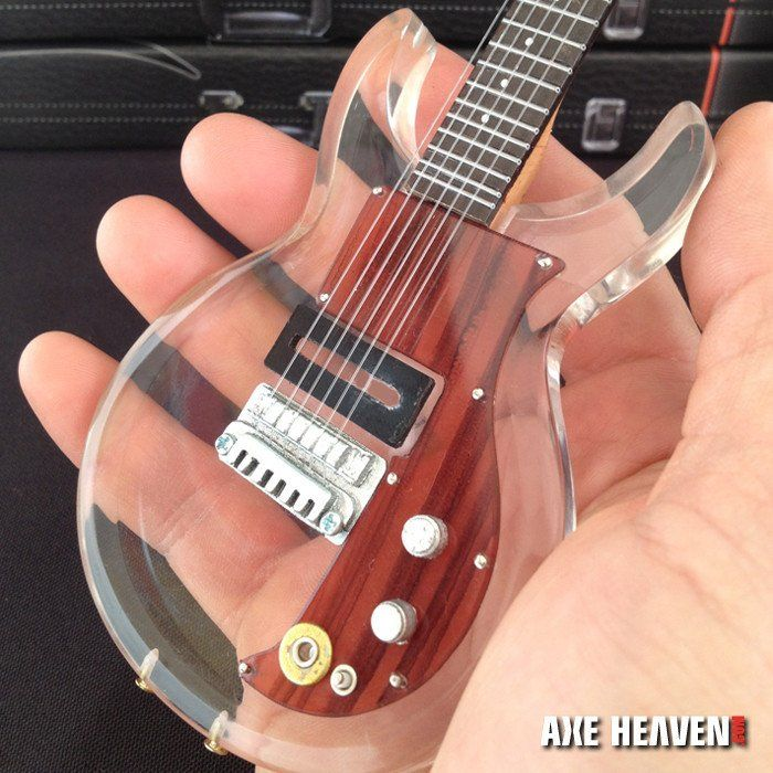 dave grohl s dan armstrong see through acrylic miniature guitar replica collectible guitar. Black Bedroom Furniture Sets. Home Design Ideas