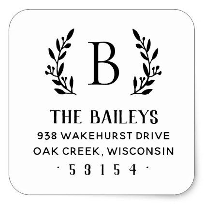 Best  Return Address Stickers Ideas On   Personalized
