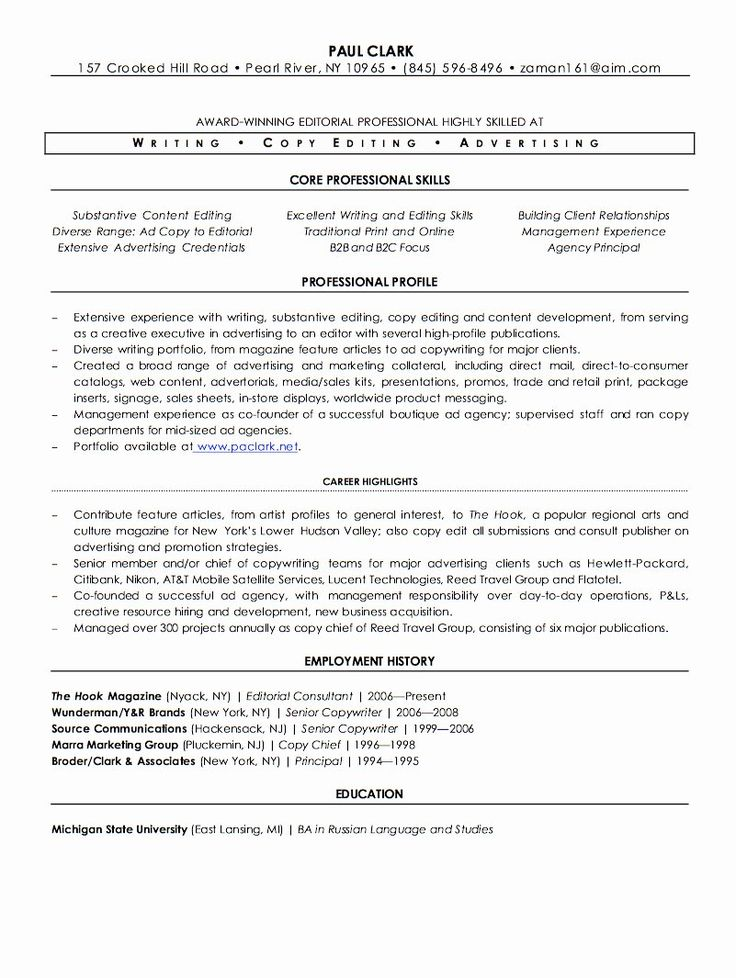25 Freelance Writer Resume Sample in 2020 Freelance