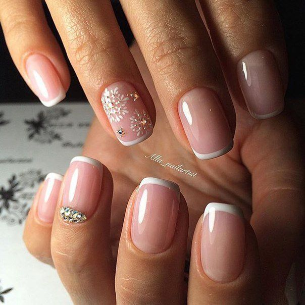 Beautiful nails 2016, Delicate french manicure, Exquisite nails, Festive nails…