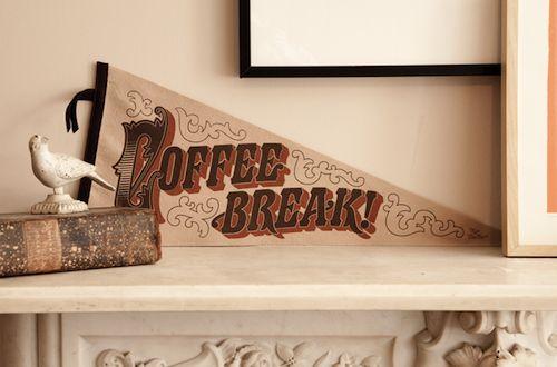 People's Pennants: Coffee Break, Flags, Screens Prints, Felt, Dinners Recipe, Raw Dinners, Barbers, People Pennant, Coff Break