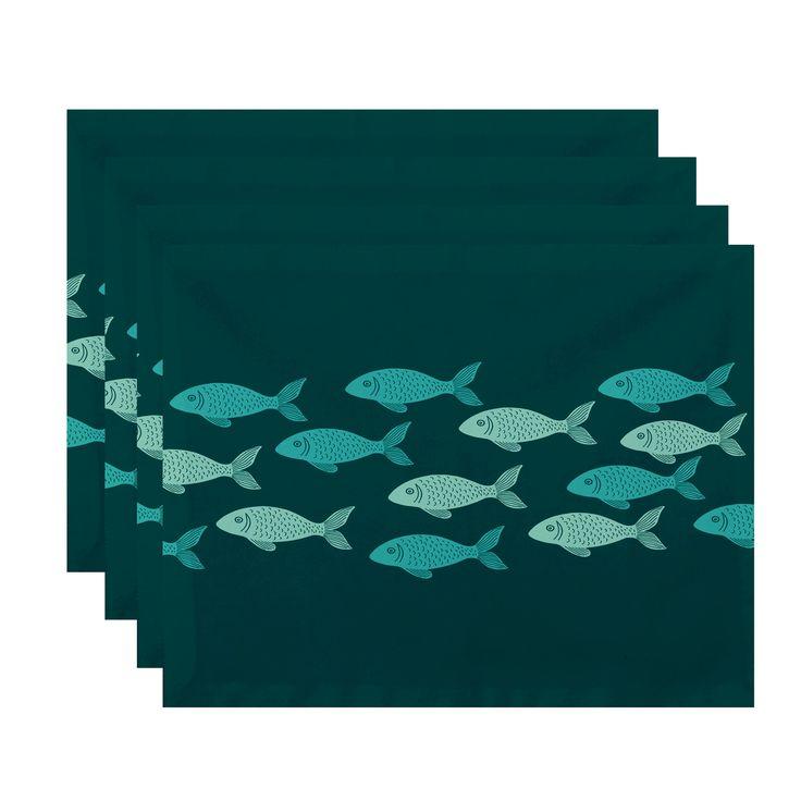 Golden Lakes Fish Line Coastal Placemat